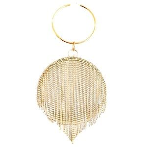 NWOT Gold Circle Purse with Dangling Crystals